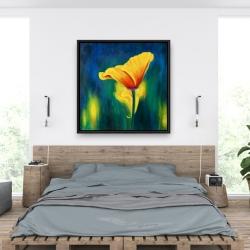Framed 36 x 36 - Superb contrast flowers