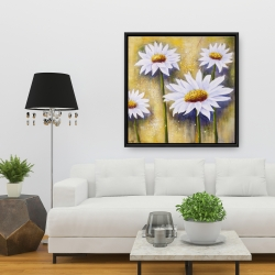 Framed 36 x 36 - Daisies at sun