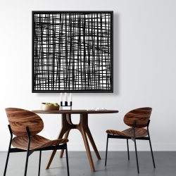 Framed 36 x 36 - Abstract small stripes