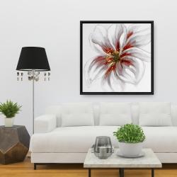 Framed 36 x 36 - Resplendent pink orchid