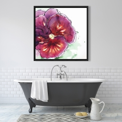 Framed 36 x 36 - Blossoming orchid with wavy petals