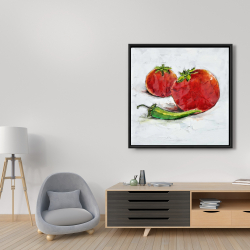 Framed 36 x 36 - Tomatoes with jalapeño