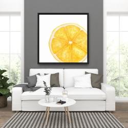 Framed 36 x 36 - Lemon slice