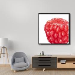 Framed 36 x 36 - Raspberry