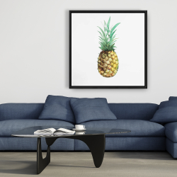 Framed 36 x 36 - Watercolor pineapple