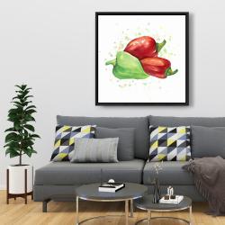 Framed 36 x 36 - Bell peppers