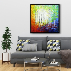 Framed 36 x 36 - Colorful forest
