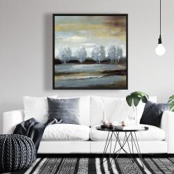 Framed 36 x 36 - Grey landscape