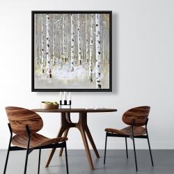 Framed 36 x 36 - Birch forest by winter