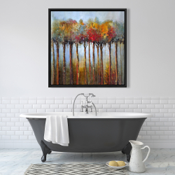 Framed 36 x 36 - Colorful leaves trees
