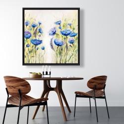 Framed 36 x 36 - Blue garden