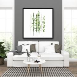 Framed 36 x 36 - Minimalist trees