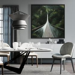 Framed 36 x 36 - Steep bridge