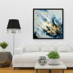 Framed 36 x 36 - Blue marble