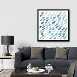 Framed 36 x 36 - X pattern