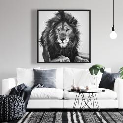 Framed 36 x 36 - The lion king