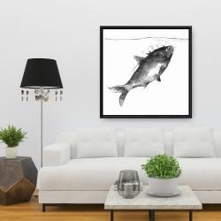Framed 36 x 36 - Happy swimming fish