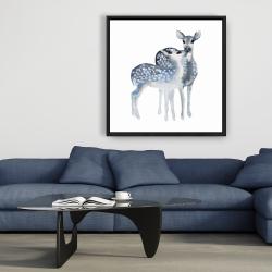 Framed 36 x 36 - Blue fawns love
