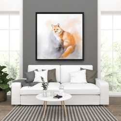 Framed 36 x 36 - Watercolor fox