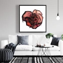 Framed 36 x 36 - Dark rose