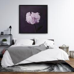 Framed 36 x 36 - Beautiful purple flower