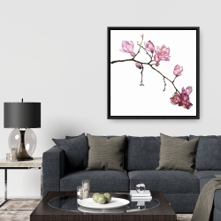 Framed 36 x 36 - Branch of cherry blossoms