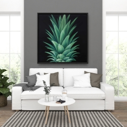 Framed 36 x 36 - Pineapple leaves