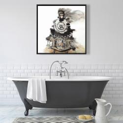 Framed 36 x 36 - Vintage train