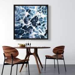 Framed 36 x 36 - Abstract stormy sea waves at tenerife sea