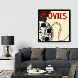 Framed 36 x 36 - Film on poster