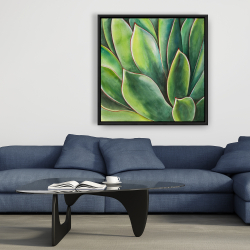 Framed 36 x 36 - Watercolor agave plant