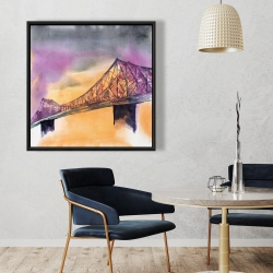Framed 36 x 36 - Montreal jacques-cartier bridge
