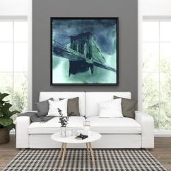 Framed 36 x 36 - Abstract view of brooklyn bridge