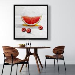 Framed 36 x 36 - Grapefruit slice