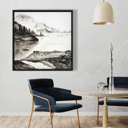 Framed 36 x 36 - Peaceful landscape