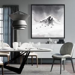 Framed 36 x 36 - Mountain peak