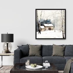 Framed 36 x 36 - Small winter barn