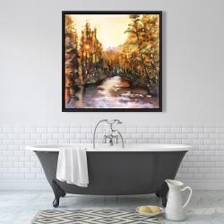Framed 36 x 36 - Merced river