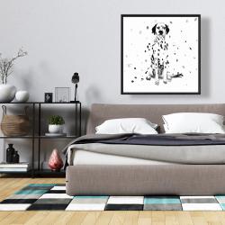 Framed 36 x 36 - Dalmatian dog