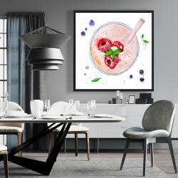 Framed 36 x 36 - Strawberry & raspberry smoothie