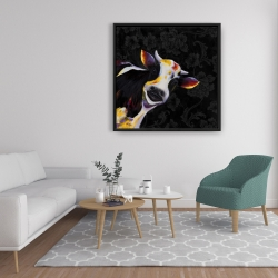 Framed 36 x 36 - Funny cow