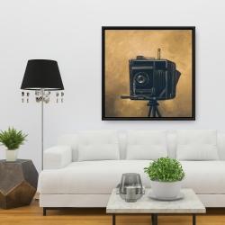 Framed 36 x 36 - Vintage camera