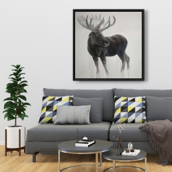 Framed 36 x 36 - Bull moose