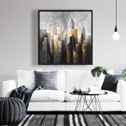 Framed 36 x 36 - Abstract skyline
