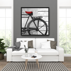 Framed 36 x 36 - Rear bicycle