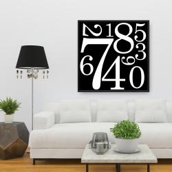 Framed 36 x 36 - 1 to 9