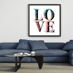 Framed 36 x 36 - Colorful love