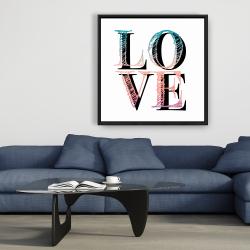Encadré 36 x 36 - Amour coloré