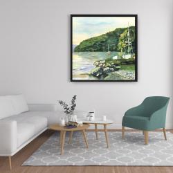 Framed 36 x 36 - Sailboat day