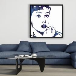 Framed 36 x 36 - Audrey hepburn: cigarillo
